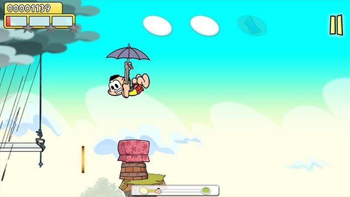 Em seu game, o jogador precisa ajudar Cascão a fugir da chuva, vencendo obstáculos (Foto: Divulgação)