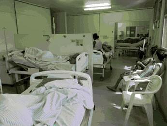Médicos divulgaram relatório com fotos das maternidades superlotadas (Foto: Divulgação / Cremepe)