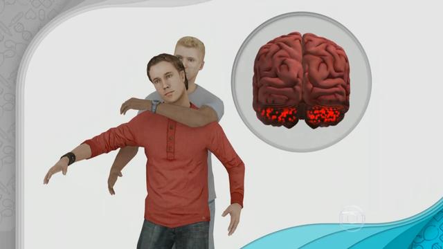 Golpe 'mata-leão' bloqueia a respiração e falta oxigenação ao cérebro (Foto: Reprodução/TV Globo)