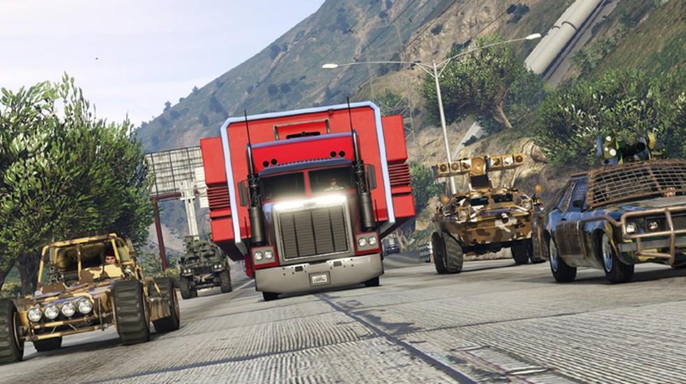 GTA 5 permitirá que jogadores fabriquem armamentos em nova atualização Tráfico de Armas para GTA Online (Foto: Reprodução/VG247)