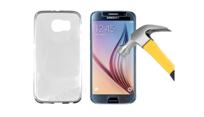 Kit com capa transparete e película de tela para Galaxy S6 (Foto: Divulgação/Novidi)