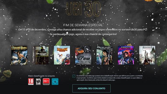 Durante o final de semana a Ubisoft irá oferecer 7 de seus jogos gratuitametne para PC (Foto: Reprodução/Rafael Monteiro)