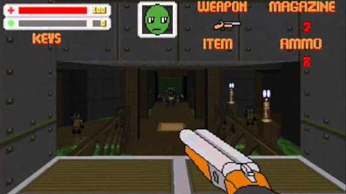Lizard Squad é um mod de Doom que além de deixar o game como um desenho animado também troca seus inimigos e armas (Foto: Reprodução/YouTube)