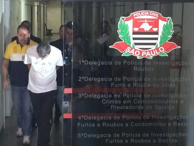 Preso em São Caetano suspeito de participar de assalto a Prosegur. (Foto: Roney Domingos/G1)