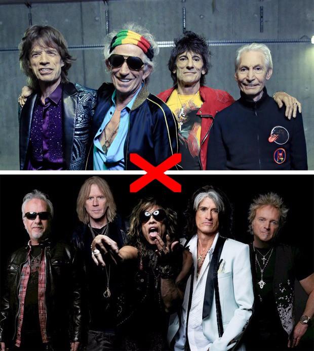 Aerosmith e The Rolling Stones (Foto: Divulgação)