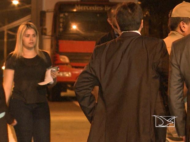 Lidiane Leite se encontra recolhida em quartel do Corpo de Bombeiros, em São Luís (Foto: Reprodução/TV Mirante)