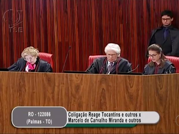Julgamento cassação Marcelo Miranda (Foto: Reprodução/TV Anhanguera)