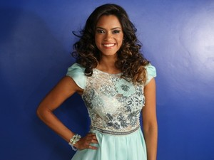 Lucy Alves na Final do The Voice Brasil (Foto: Isabella Pinheiro/TV Globo)