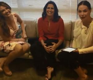 Ellen, Malu e Carolina no bate-papo (Foto: Reprodução)