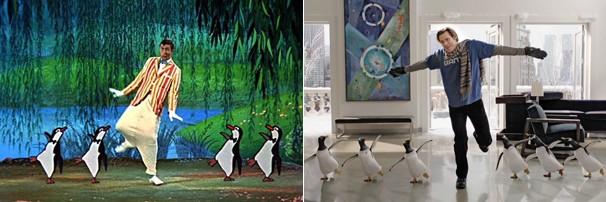 """O que mais atraiu Jim Carrey foi a chance de dançar com pinguins como seu ídolo Dick Van Dyke fez em """"Mary Poppins"""" (1964) (Foto: Divulgação)"""