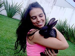 A venda de coelhos na páscoa aumenta cerca de 50% em Uberlândia (Foto: Marcella Medeiros Spacek)