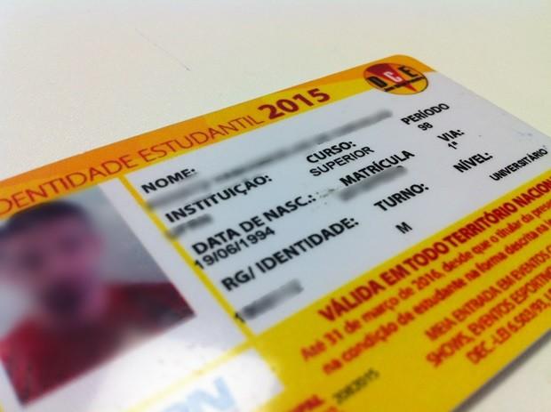 Validade da carteira estudantil, que deveria vencer em 31 de março, foi prorrogada para 31 de maio (Foto: Anderson Barbosa/G1)