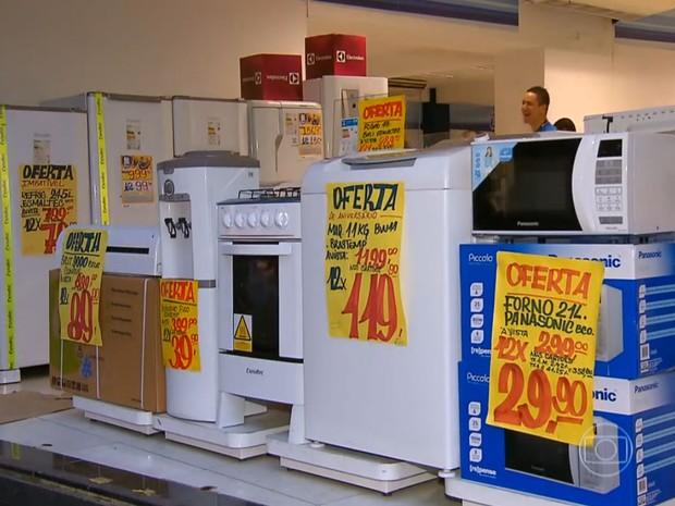 Compras Vendas Lojas Comércio Liquidação JG (Foto: Reprodução: TV Globo)