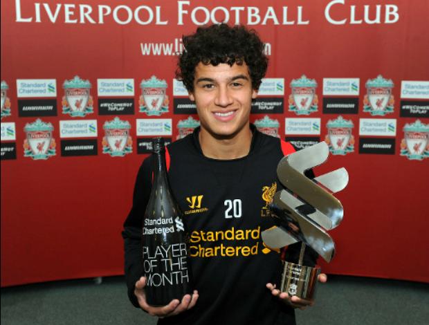 Philippe Coutinho Liverpool (Foto: Reprodução / Site Oficial)