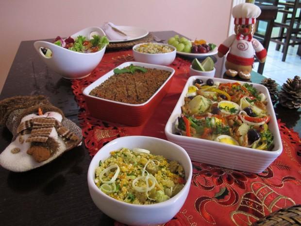 Ceia vegetariana é opção mais saúdavel para o Natal (Foto: Mariane Rossi/G1)