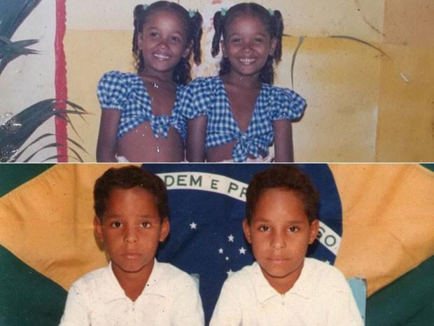 Dupla de gêmeos quando ainda eram crianças. (Foto: Arquivo Pessoal)