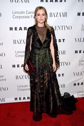 Diane Kruger em festa em Nova York, nos Estados Unidos (Foto: Dimitrios Kambouris/ Getty Images/ AFP)