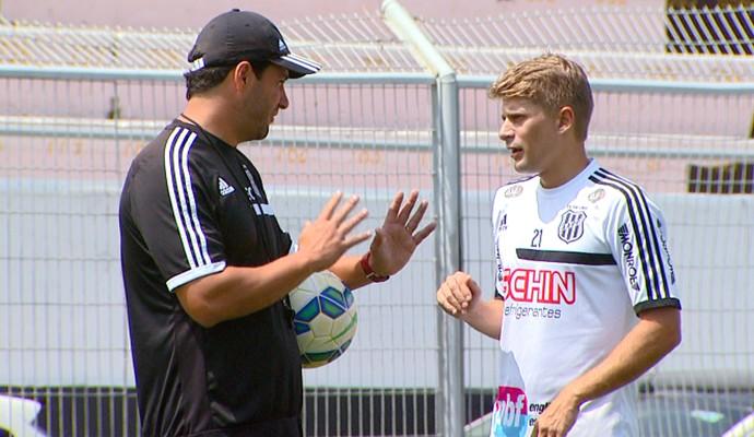 Felipe Moreira e Adrianinho, Ponte Preta (Foto: Reprodução EPTV)