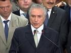 Michel Temer diz que tem uma base parlamentar para atacar a crise