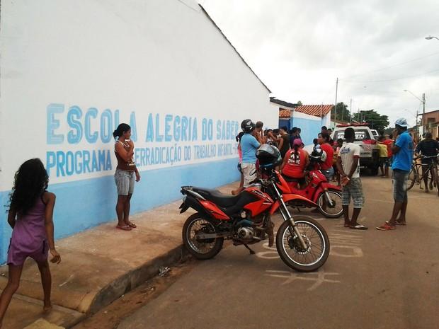 Escola Alegria do Saber, na Cidade Olímpica (Foto: Domingos Ribeiro/ Rádio MiranteAM)