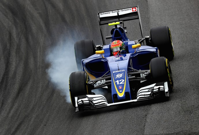 Felipe Nasr no treino classificatório para o GP do Brasil (Foto: Getty Images)