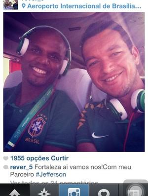 Réver, Atlético-MG, Jefferson, Botafogo, Seleção Brasileira (Foto: Reprodução / Instagram)