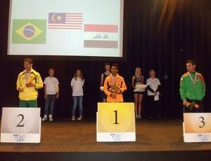 Mateus é prata nos Jogos Mundiais de Iwas (Foto: Mateus Evangelista / Facebook)