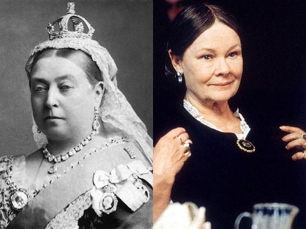A rainha Vitória, em foto de 1882, e Judi Dench em 'Sua majestade, Mrs. Brown' (Foto: Alexander Bassano/The National Portrait Gallery/Divulgação)