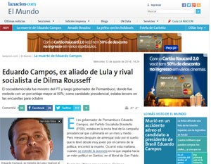 Jornal argentino publica texto que cita G1 e TV Globo com fonte. (Foto: Reprodução)