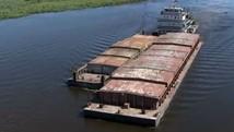 Barcaças voltam a passar pela hidrovia Tietê-Paraná (Reprodução/TV Morena)