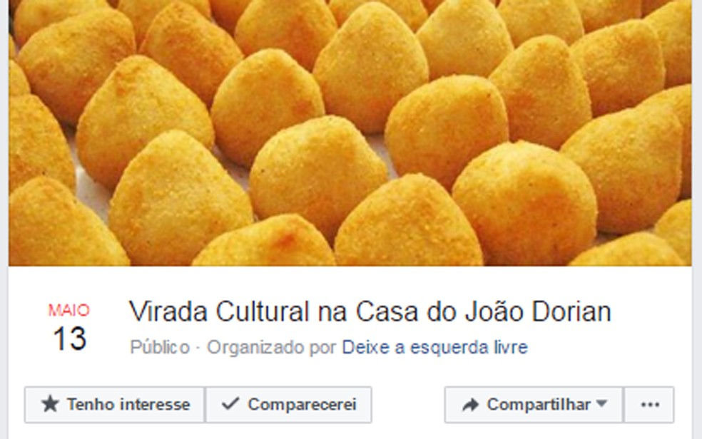 Página no Facebook chama para protesto (Foto: Reprodução/ Facebook)