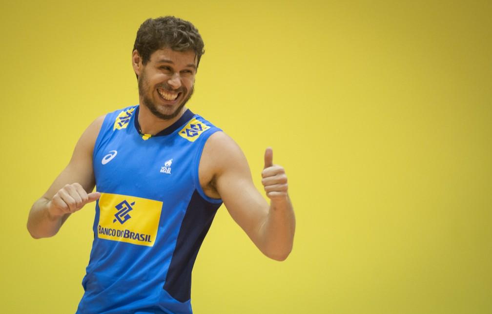Bruninho é um dos pilares da seleção (Foto: Marcio Rodrigues/MPIX/CBV)