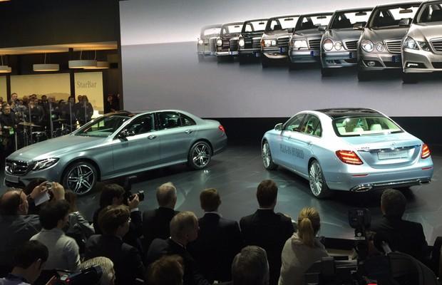 Mercedes apresenta a décima geração do Classe E em Detroit (Foto: Michelle Ferreira / Autoesporte)