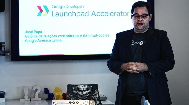 José Papo, gerente do Google América Latina, durante lançamento (Foto: Divulgação)