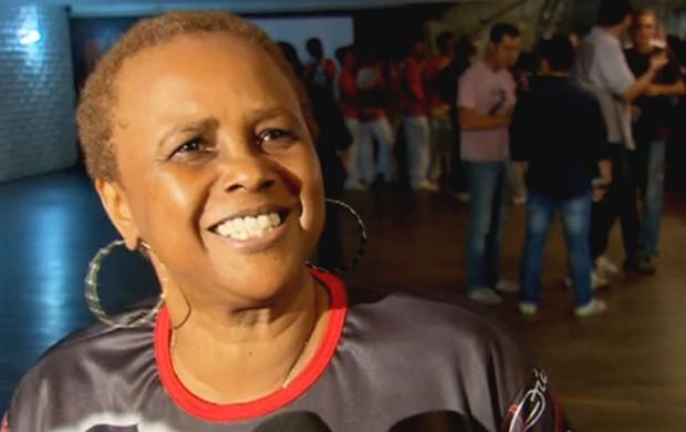Sandra de Sá, cantora e torcedora do Flamengo (Foto: Reprodução/SporTV)
