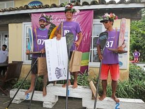 Vencedores na categoria masculino (Foto: Divulgação/Prefeitura de Búzios)