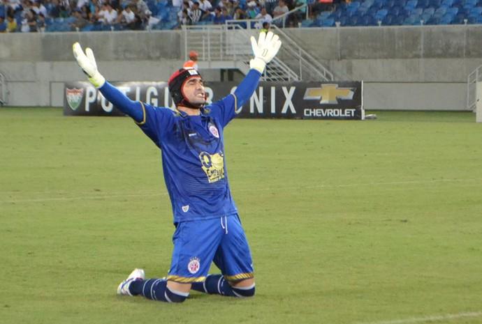 Andrey - goleiro do América-RN (Foto: Jocaff Souza/GloboEsporte.com)