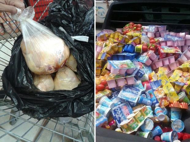 Alguns alimentos estão mal acondicionados e outros fora da validade (Foto: Divulgação/ Procon PE)