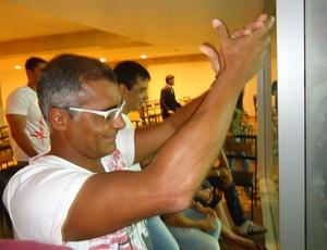 Romário estádio mané garrincha (Foto: Fabrício Marques)