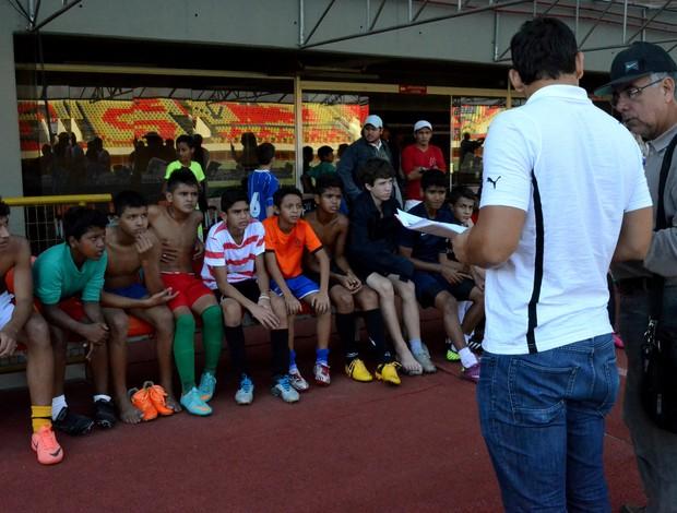 Botafogo faz avaliação técnica no Acre, na Arena da Floresta (Foto: João Paulo Maia)