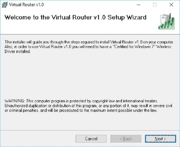 Instalando o Virtual Router Manager (Foto: Felipe Alencar/TechTudo)
