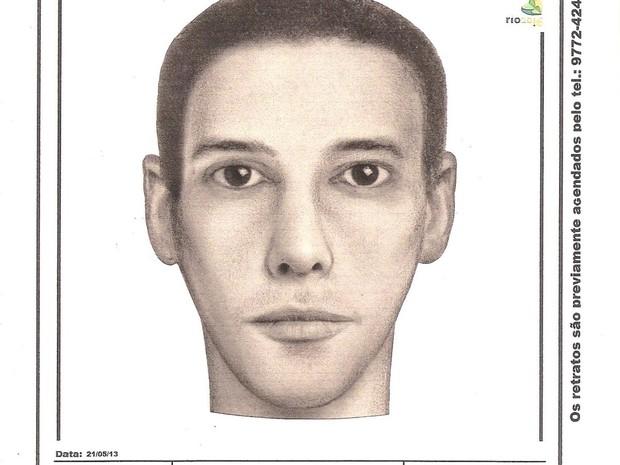 Homem teria aproximadamente 25 anos. cabelos e olhos escuros. (Foto: Polícia Civil)