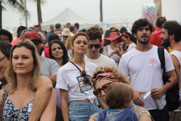Sophie Charlotte, Daniel de Oliveira e Renato Góes (Foto: Wallace Barbosa/AgNews)