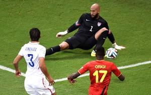 Tim Howard  jogo Estados Unidos x Bélgica Arena Fonte Nova (Foto: AFP)