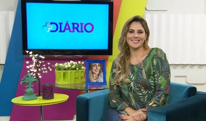 Jessica Leão no estúdio do Mais Diário (Foto: Reprodução / TV Diário )