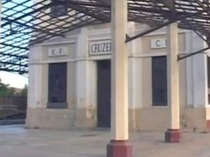 Estação Central de Cruzeiro deve ser reformada para receber passageiros (Foto: Reprodução / TV Vanguarda)