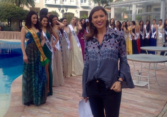Camille acompanhou concurso de Miss (Foto: RBS TV/Divulgação)