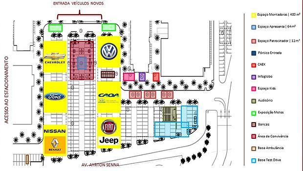 Mapa do evento Qual Comprar (Foto: Autoesporte)