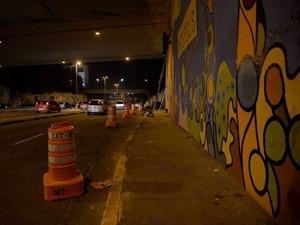 Uma faixa da Radial Leste foi interditada durante as madrugadas de trabalho (Foto: Divulgação / Subprefeitura da Sé)