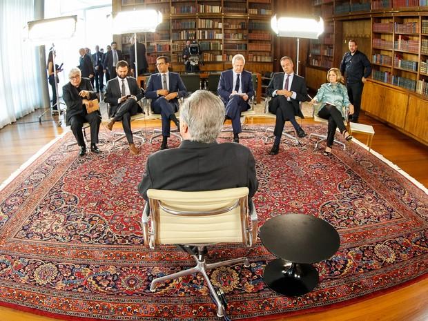 Michel Temer concede entrevista ao programa Roda Viva, da TV Cultura, no Palácio da Alvorada (Foto: Beto Barata / Presidência)